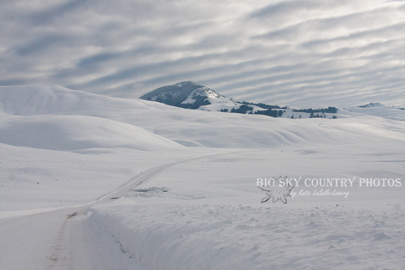 Pillows of snow in Yellowstone's Lamar Valley