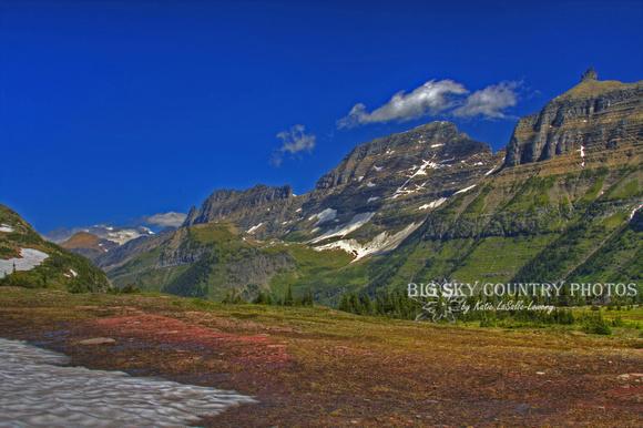 Big Sky Country Montana Landscapes Including Glacier National Park Vibrant Garden Wall