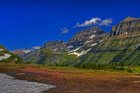 The vibrant colors of the Garden Wall - Glacier National Park, as viewed from the Hidden Lake Overlook Trail